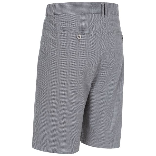 Miner Men's Cotton Travel Shorts in Grey