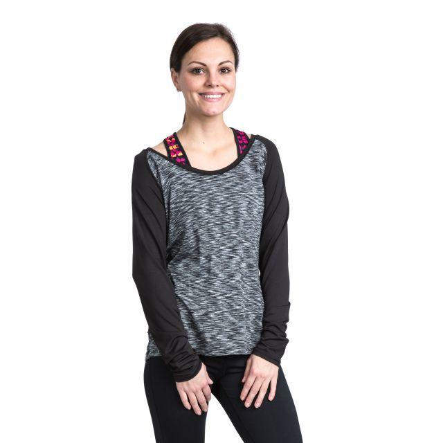 Miso Women's Long Sleeve Active T-Shirt in Light Grey