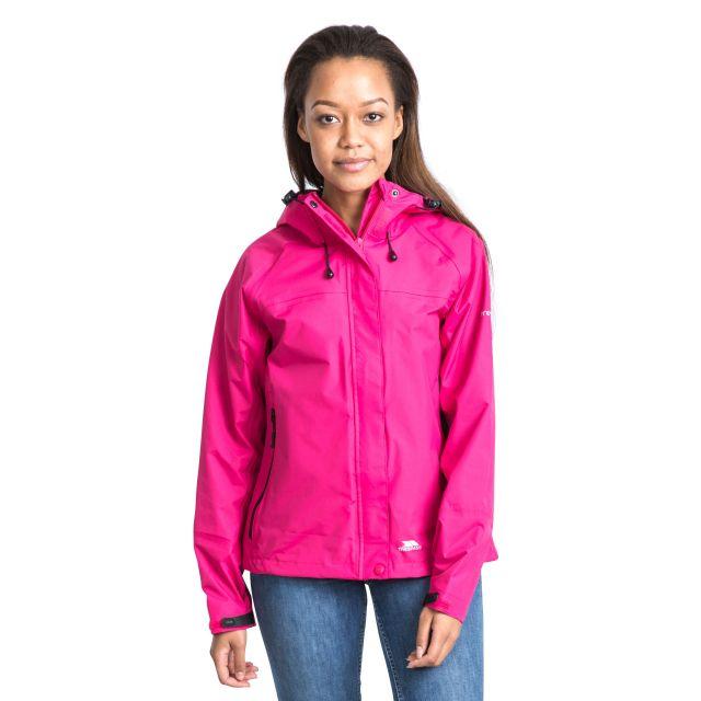 Trespass Womens Waterproof Jacket Hooded Miyake in Pink Lady