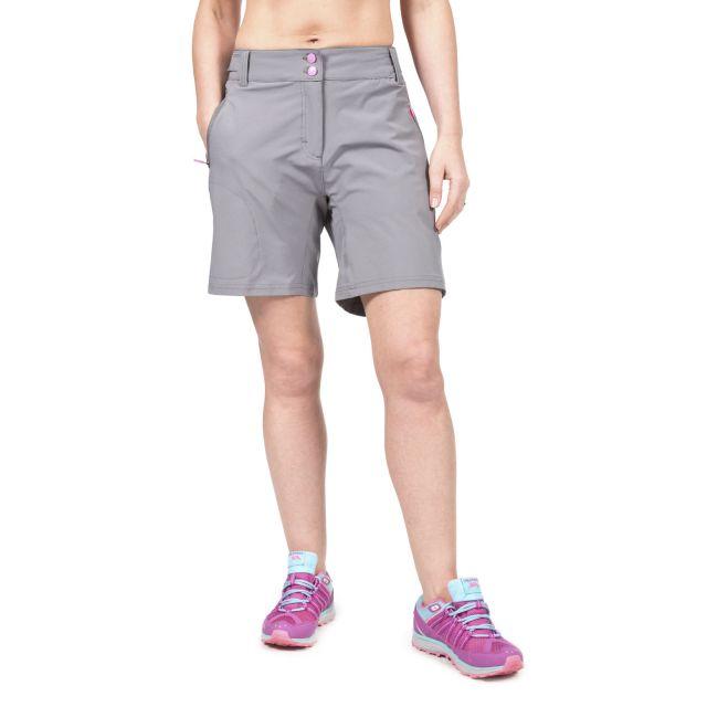 Edgar Women's Dual Layer Quick Dry Cycling Shorts in Grey