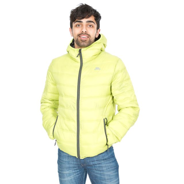 Irrate Men's Padded Casual Jacket in Orange