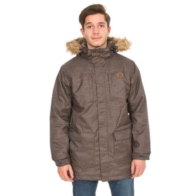 Gillespie Mens Waterproof Parka Jacket in Brown