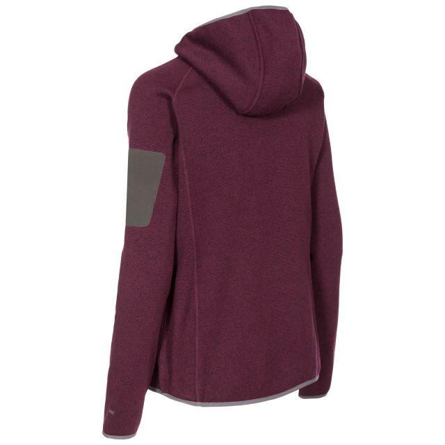 Mona Lisa Women's Full Zip Fleece Hoodie in Purple
