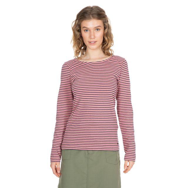 Moomba Women's Striped Long Sleeve T-shirt in Pink