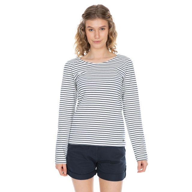 Moomba Women's Striped Long Sleeve T-shirt in White