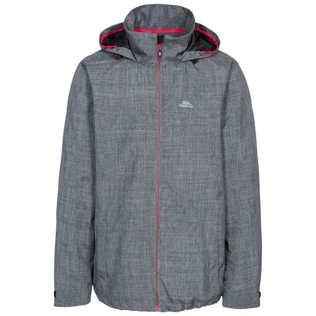 Moonshine Men's Waterproof Jacket in Grey, Front view on mannequin