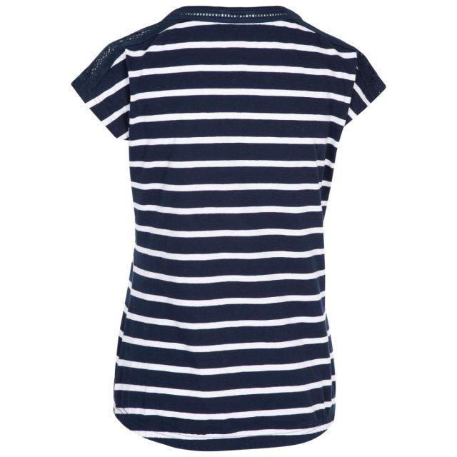 Trespass Women's Casual Short Sleeve Stripe T-Shirt Moor Navy White Stripe