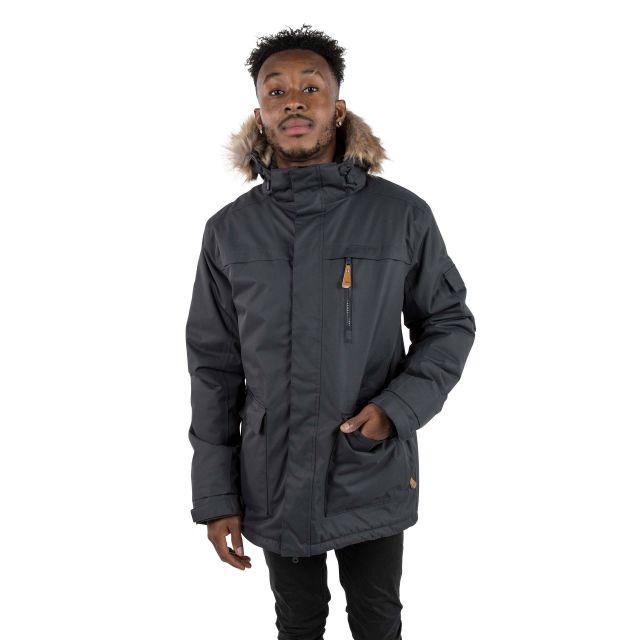 Mount Bear Men's Waterproof Parka Jacket in Black