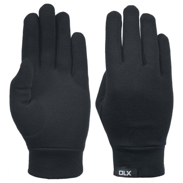 Trespass DLX Adults Merino Wool Gloves in Black Naoki