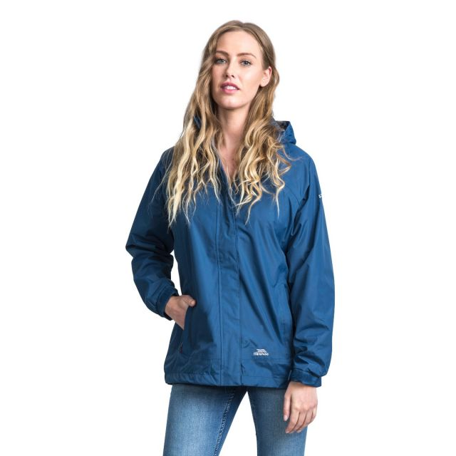 Trespass Womens Waterproof Jacket Nasu II in Midnight Blue