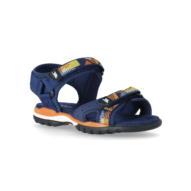 Nico Kids' Active Sandals in Navy, Angled view of footwear