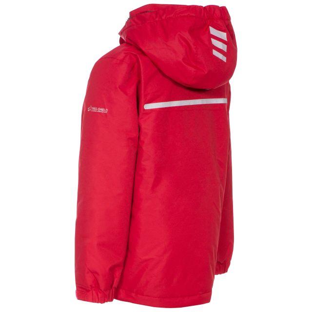 Trespass Kids Waterproof Jacket in Red Nicol