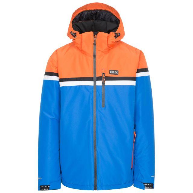 Niven Men's DLX Waterproof Ski Jacket  in Blue, Front view on mannequin