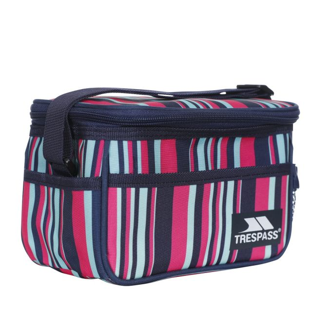 Striped Cool Box 3L in Navy, Angle view