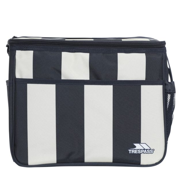 Striped Cool Box 15L in Navy Stripe, Front view