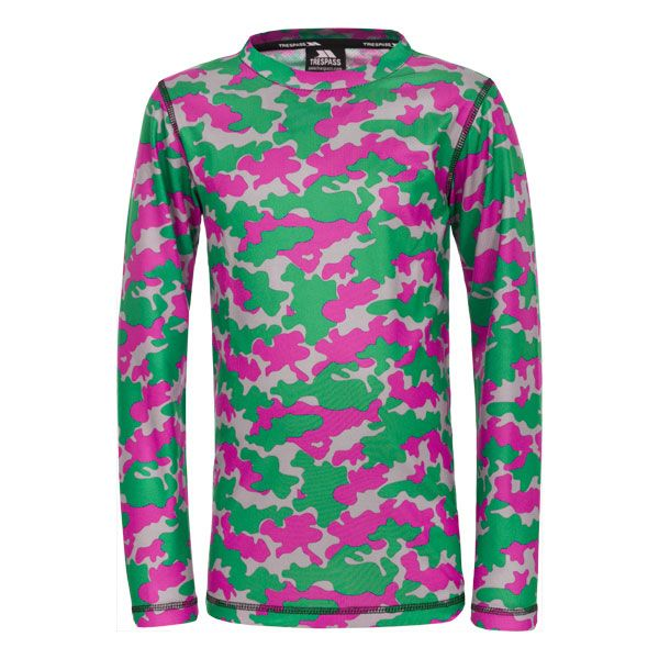 Oaf Kids Base Layer Top in Pink, Front view on mannequin