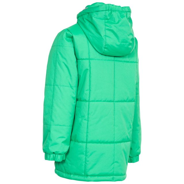 Trespass Boys Water Resistant Padded Jacket in Green Offside