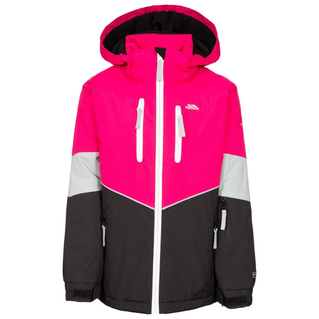 Olivvia Kids' Ski Jacket in Black, Front view on mannequin