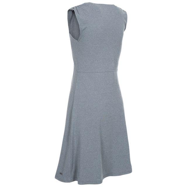 Opalite Women's V-Neck Sleeveless Dress in Grey