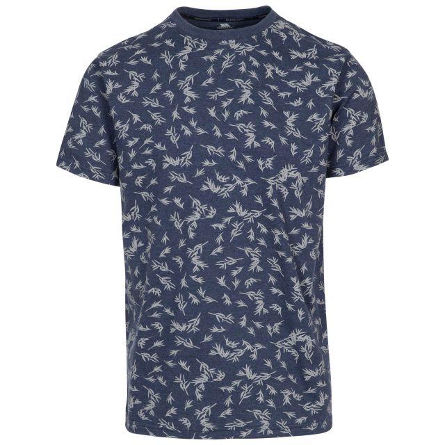Orsen Men's Printed T-Shirt in Navy, Front view on mannequin