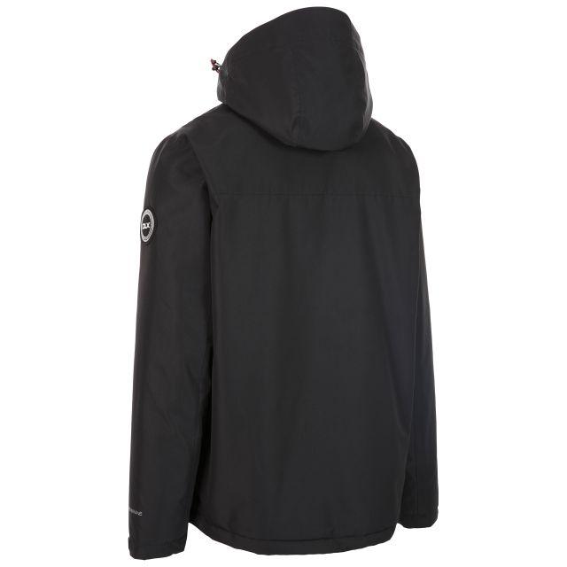 Trespass Men's Padded Waterproof Jacket Zip Off Hood Oswarm Black