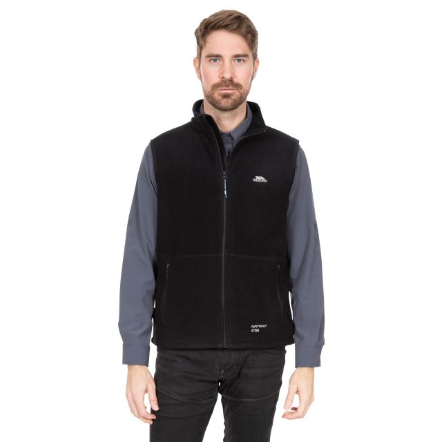 Othos II Men's Fleece Gilet Jacket in Black