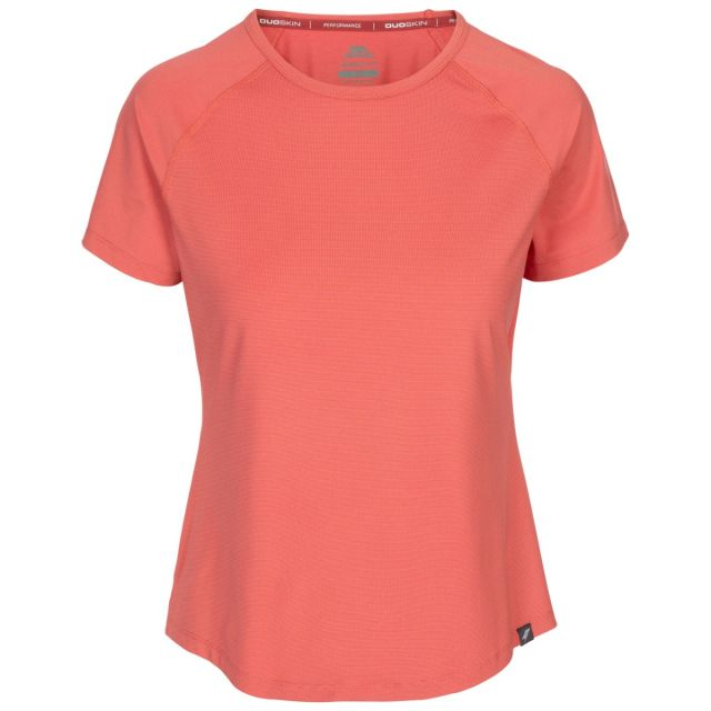 Trespass Women's Top Outburst Rhubarb, Front view on mannequin