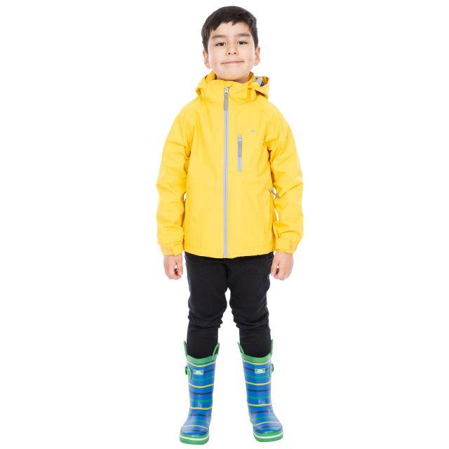 Trespass Kids Waterproof Jacket in Yellow Overwhelm