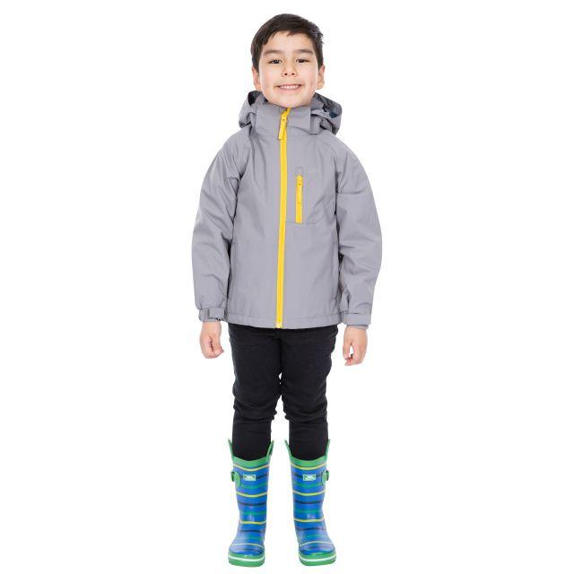 Trespass Kids Waterproof Jacket in Grey Overwhelm
