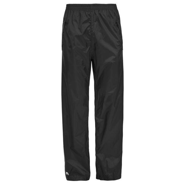 Trespass Unisex Packaway Waterproof Trousers in Black Packup