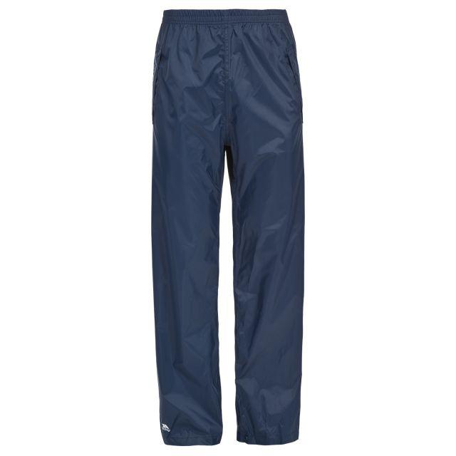 Trespass Unisex Packaway Waterproof Trousers in Navy Packup