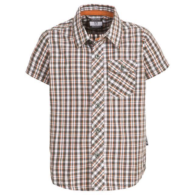 Padraig Boys Short Sleeved Shirt in Grey