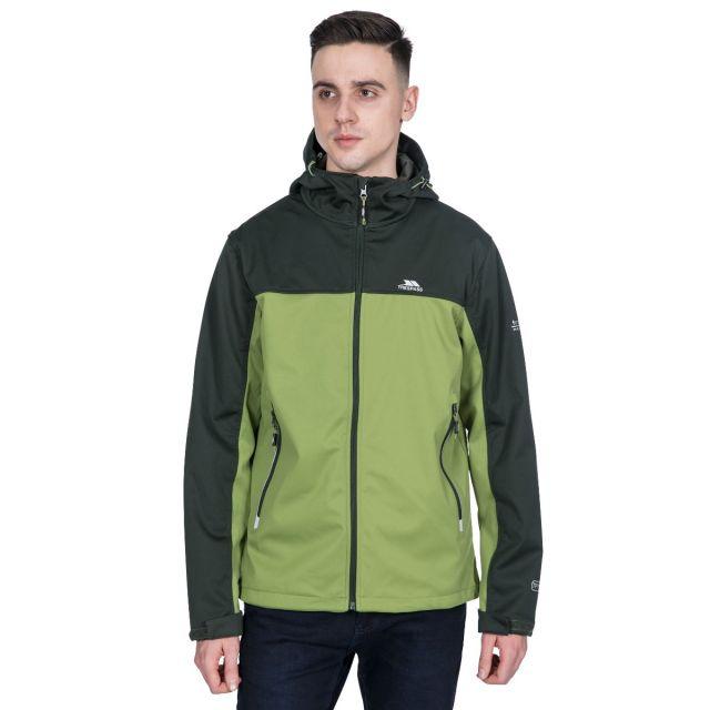 Palin Men's Hooded Softshell Jacket in Khaki