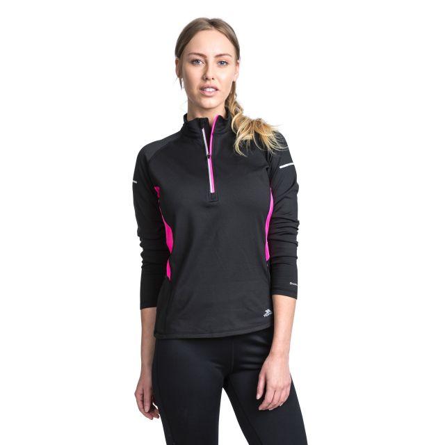 Persin II Women's Antibacterial Long Sleeve Active Top in Black