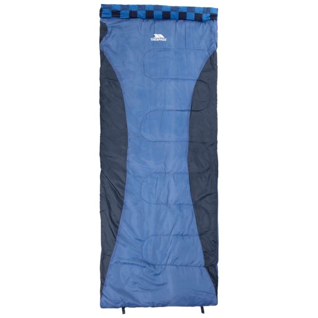 Trespass 4 Season Sleeping Bag Water Resistant Pitched Navy, Tent detail