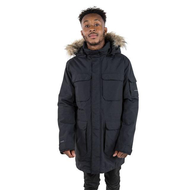 Pixilation Men's DLX Waterproof Parka Jacket in Black