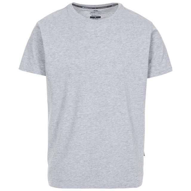 Plaintee Men's Quick Dry Casual T-shirt in Light Grey, Front view on mannequin