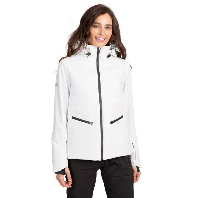 Trespass Womens Ski Jacket Waterproof Poise in White