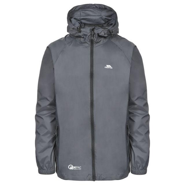 Trespass Adults Waterproof Packaway Jacket in Grey Qikpac