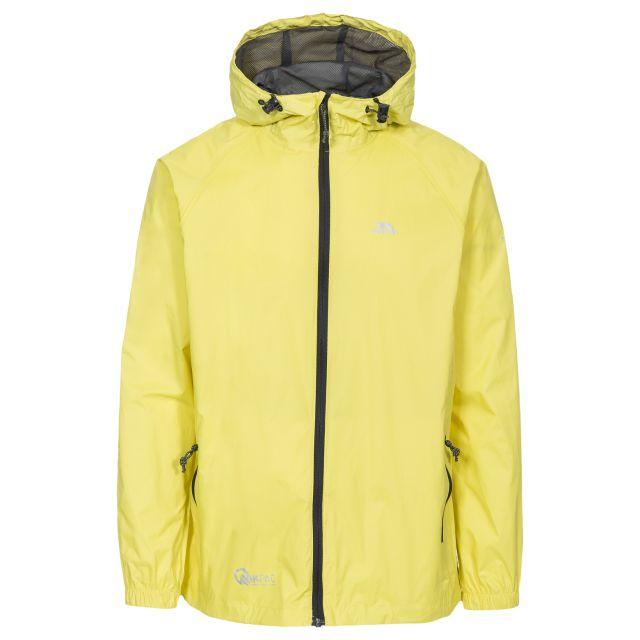 Trespass Adults Waterproof Packaway Jacket in Yellow Qikpac