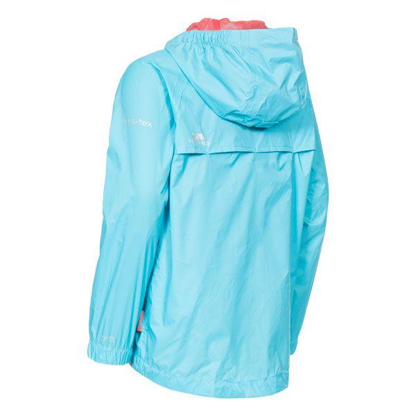 Qikpac Kids' Waterproof Packaway Jacket in Light Blue