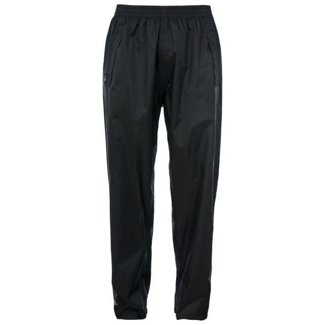 Trespass Adults Packaway Waterproof Trousers in Black Qikpac