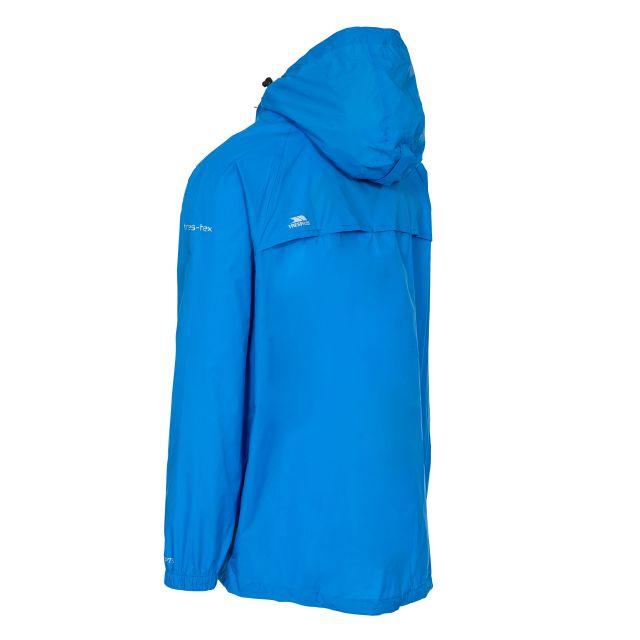 Trespass Adults Waterproof Packaway Jacket in Blue Qikpac