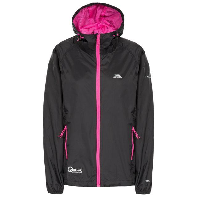 Qikpac Women's Waterproof Packaway Jacket in Black