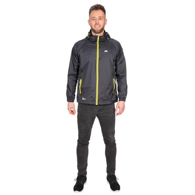 Trespass Adults Waterproof Packaway Jacket in Black Qikpac X
