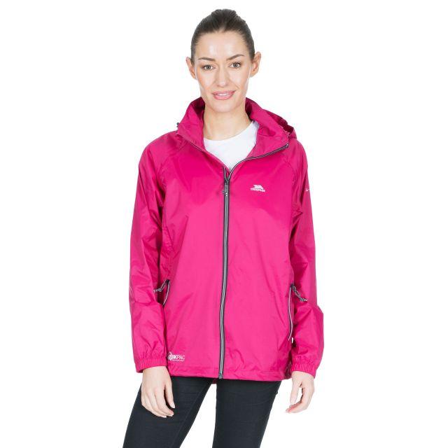 Trespass Adults Waterproof Packaway Jacket in Pink Qikpac X