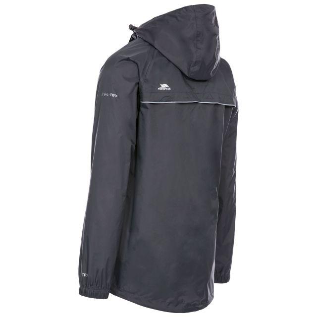 Trespass Adults Waterproof Packaway Jacket in Grey Qikpac X