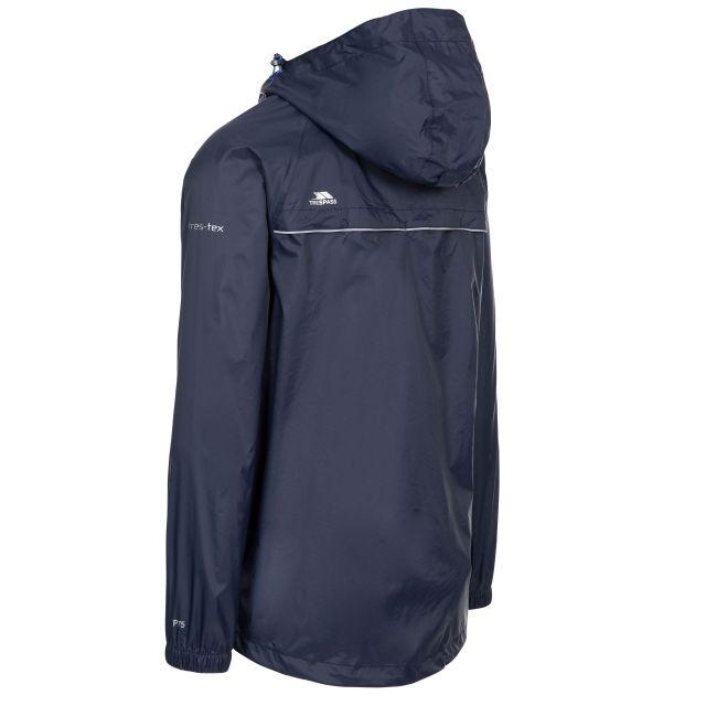 Trespass Adults Waterproof Packaway Jacket in Blue Qikpac X