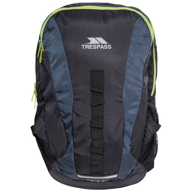 RACE 20L GREY REFLECTIVE BACKPACK, Back view
