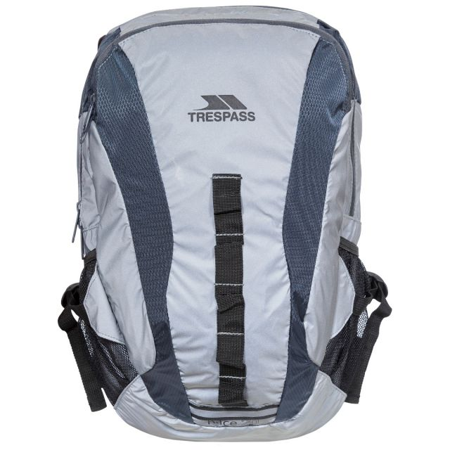RACE 20L SILVER REFLECTIVE BACKPACK, Back view